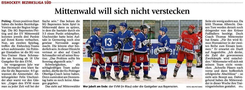 Vorbericht Bayersoien 31.10.2014